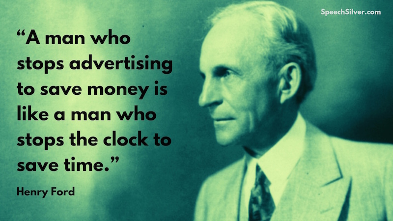 Henry Ford Advertising Quote