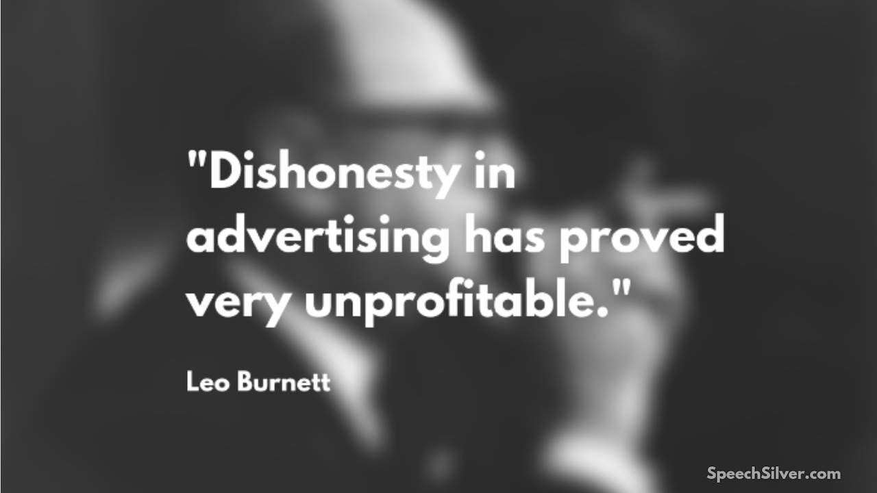 Leo Burnett Advertising Quote